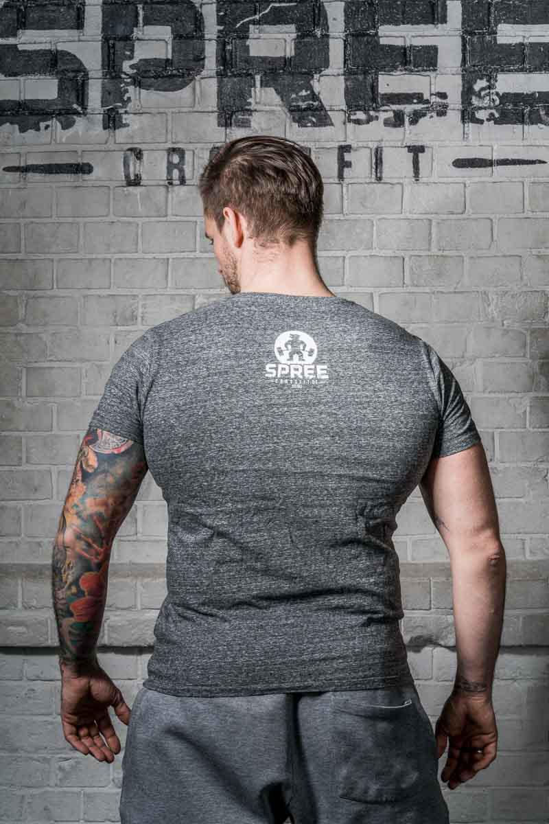 Spreecrossfit In Squat special T-Shirt dunkelgrau meliert